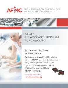 MCAT Fee Assistance Program for Canadians